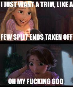 Never fails when I go get a hair cut.