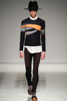 "The ""RANK & FILE"" slickness of GALLIANO MEN'S F 2014 by BILL GAYTTEN"