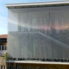 Médiathèque Les Halles, Faulquemont | Shiny wire mesh facade made of HAVER Architectural Mesh