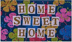 Home Sweet Home Doormat by Castle Mats Size 18 x 30 inches NonSlip Durable Made Using OdorFree Natural Fibers ** Details can be found by clicking on the image. (This is an affiliate link and I receive a commission for the sales)