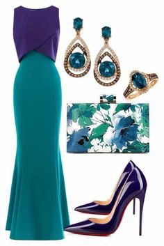 Classy outfit for a party, wedding, prom, events Party frocks for ladies for every events - Fab Fash Classy Outfits, Chic Outfits, Dress Outfits, Fashion Dresses, Party Outfits, Teal Outfits, Classy Dress, Elegant Dresses, Pretty Dresses