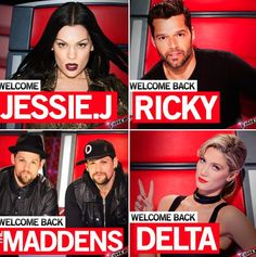 The coaches of The Voice Australia 2015 Announced! Introducing Jessie J. to The Voice Australia 2015 & welcoming back our amazing Ricky Martin, The Madden Brothers & Delta Goodrem! Static Hair, Jessie J, Ricky Martin, My Passion, The Voice, Coaching, Australia, Fifty Shades, Trivia