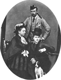 Queen Victoria, Arthur, Beatrice and Spot, Balmoral in 1876