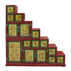 Chinese antiques furniture, decor and gift. Antique Chinese Furniture, Japanese Furniture, Chinese Cabinet, Fish Graphic, Yellow Fish, Step By Step Painting, Cabinet Styles, Chinese Antiques, Ginger Jars