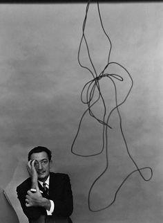 // Salvador Dalí, painter,  New York 1951 Gelatin silver print