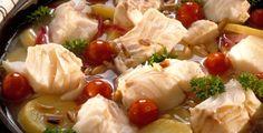 Torskegryte med sitron og pinjekjerner