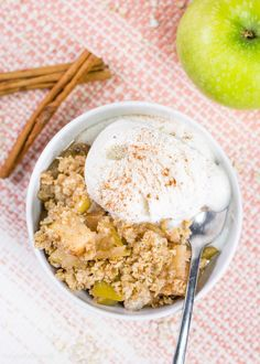 Ultimate Healthy Apple Crisp made in Slow Cooker brings the sweet savory flavor of Fall to life. Your house will smell heavenly with this healthy dessert.