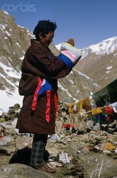 Tibetan Pilgrim in Prayer