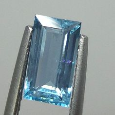 9.8x5.3 MM Natural UNTREATED Aquamarine 1.9 Ct BAGUETTE CUT Stone GOOD QUALITY  #AquamarineTraders