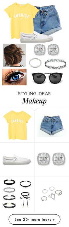 """Untitled #377"" by kaitlyn-skaggs on Polyvore featuring MANGO, Vans, Frederic Sage and Prada"