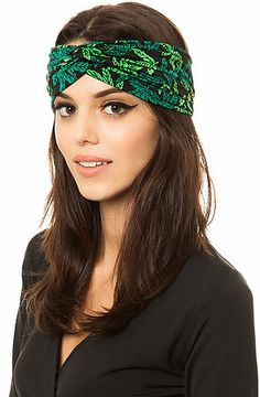 The Mary Jane Turban in Green on a pretty stoner!
