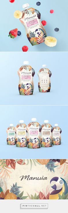 Manuia Superfood Smoothies packaging design by Sealburger - http://www.packagingoftheworld.com/2017/11/manuia-superfood-smoothies.html