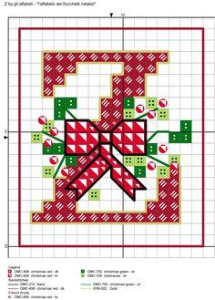 alfabeto dei fiocchetti natalizi Z