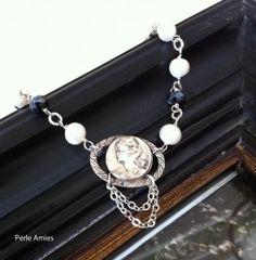 Hortense Vintage Pearl Portrait Bracelet