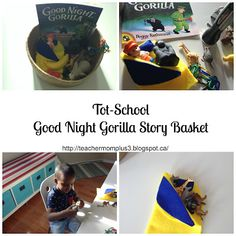 Tot-School Good Night Gorilla Story Board