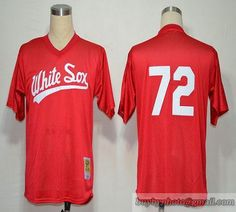 3d27980ae91 1990 Mitchell And Ness White Sox  72 Carlton Fisk Red Throwback Embroidered  MLB Jersey Cheap
