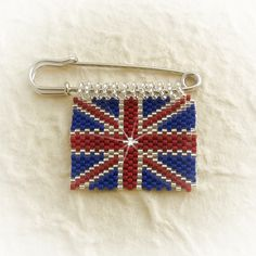 MAY 2012, The Diamond Jubilee (The Queen) - Union Jack Diamond Jubilee Brooch, by Bonny Lass, £12.50