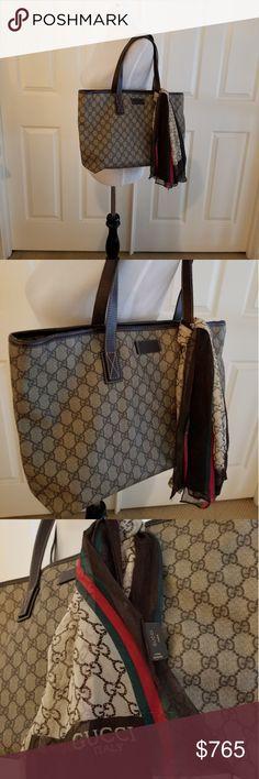 3cc0b091eb9 Gucci GG Coated Tote Bag Authentic   Preowned •Gucci GG Coated Canvas Tote Bag  Authentic