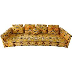 Preowned Curvy-licious Sofa By Harvey Probber ($5,900) ❤ liked on Polyvore featuring home, furniture, sofas, multiple, button sofa, second hand furniture, second hand sofa and secondhand furniture