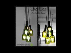 "Lámparas de botellas de vidrio ""de bo"" Ceiling Lights, Lighting, Pendant, Youtube, Ideas, Home Decor, Decoration Home, Room Decor, Hang Tags"