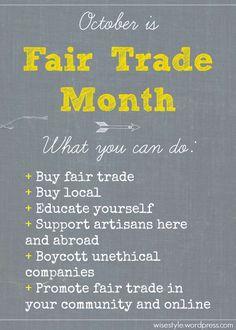 October is #fairtrademonth #sustainablefashion