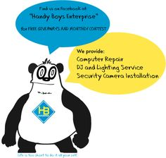 Handy Boys Enterprise a a family owned business located in Connecticut that provides , Computer Repair Service, Security Camera Installation, DJ and Lighting Rental at affordable prices