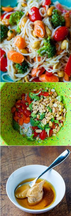 Peanut Noodles with Mixed Vegetables and Peanut Sauce (vegan, gluten-free, soy-free)