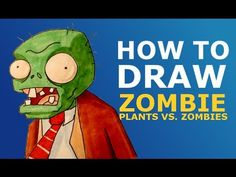How to draw Zombie. Plants vs Zombies