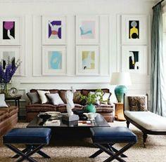 symmetrical art grouping w/moulding