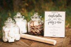 Marshmallow and Smores Bar At Country Wedding | By Claudia Rose Carter | Pink Bridesmaid Dresses | Country House Wedding | Dewsall Court Wedding | Hertfordshire Wedding Venue | Unplugged Wedding Ceremony | Enzoani Wedding Dress | Beaded Bride Dress | Outdoor Ceremony | Garden Wedding | Sparkler Exit | Smoke Bombs | Wedding Decor