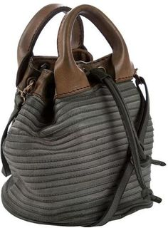 Majo Small Leather Bucket Bag