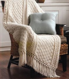 Crochet patterns for 6 different Aran Afghan Blankets. Each of these designs features an aran crochet pattern complete with lots of pictures and wonderful instructions. These make a wonderful gift or are perfect to fit your home decor! Crochet Afghans, Afghan Crochet Patterns, Crochet Patterns For Beginners, Crochet Stitches, Crochet Blankets, Stitch Patterns, Cable Knit Blankets, Basket Weave Crochet Blanket, Knitting Blankets