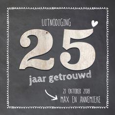 lovz | uitnodiging 25 jaar getrouwd Company Logo, Logos, Cards, Wedding, Products, Valentines Day Weddings, Hochzeit, A Logo, Maps