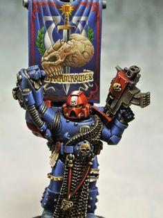 PAINTED 40K: Ultramarines Veteran Sergeant, Painted by Thor