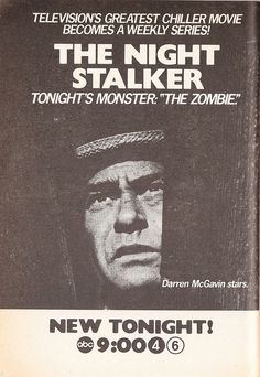 """Ad for The Night Stalker episode """"The Zombie"""" (1974) by Paxton Holley on Flickr."""