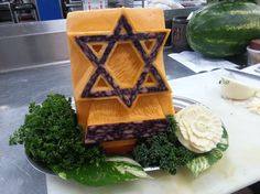 cheese carving of Star of David