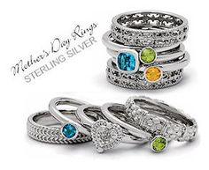 Stackable Mothers Rings... love that each ring can be different and unique. Just wish that they were engraved too!