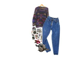 """ok"" by xievas ❤ liked on Polyvore featuring PèPè, Polaroid, CASSETTE, Sony, Converse and vintage"