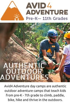 Avid4 Adventure Day Camps in Colorado and California.  Outdoor adventure camps for PreK, Elementary and Middle Schoolers. #sponsored