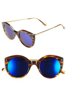 4b9a13f014a0b1 Illesteva  Palm Beach  50mm Round Sunglasses Illesteva Sunglasses,  Sunglasses Shop, Round Sunglasses