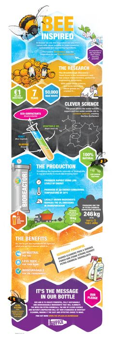 ECOVERs aim is to create powerful fully sustainable and biodegradable ingredients that will eliminate the need for petro-chemicals. We use clever science! www.the-splash.co.uk/message-in-our-bottle/green-cleaning-innovation-infographic