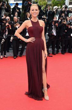 Blake Lively en un look rojo de Gucci - Cannes 2014