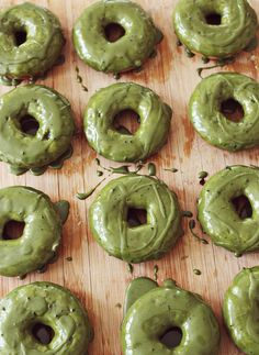 Matcha Green Tea Donuts