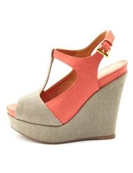 super cute melon and beige wedges :)