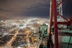 Fog town by Roof Topper, via 500px