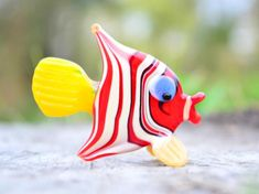 Your place to buy and sell all things handmade Red Glass, Glass Art, Elephant Sculpture, Glass Figurines, Red Fish, Glass Collection, Halloween Decorations, Birthday Gifts, Art Pieces