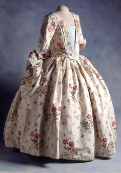 A Mantua Court Dress on display 1740s Nthn Ireland