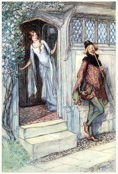 I am not-a hungry, I thank you.    Hugh Thomson, from The merry wives of Windsor, by William Shakespeare, New York, 1910.