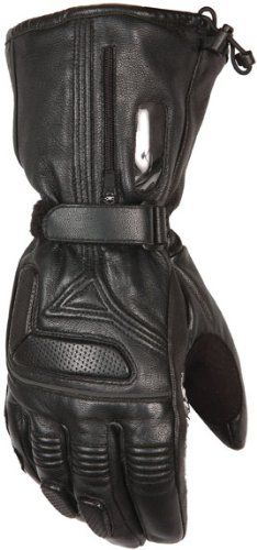 BLACK SPEED MAX MENS THERMAL MOTORBIKE MOTORCYCLE WINTER TEXTILE LEATHER GLOVES