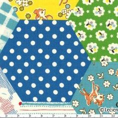 Lecien House Designer - Old New 30s - Farmhouse Patchwork in Blue
